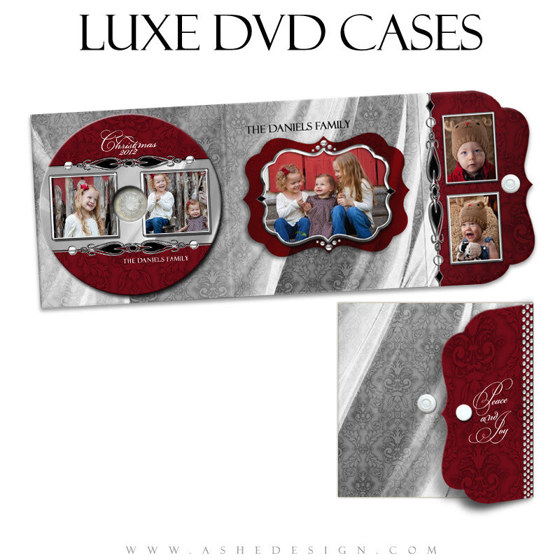 Luxe DVD Case & Label Designs - Christmas Bling