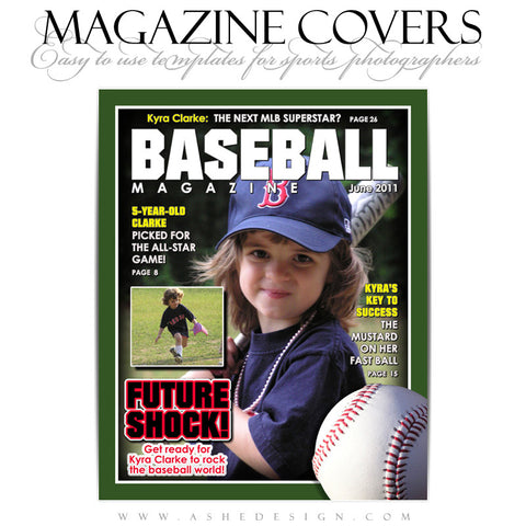 Magazine Cover Design - Baseball