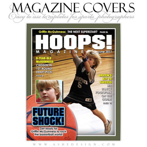 Magazine Cover Design - Basketball