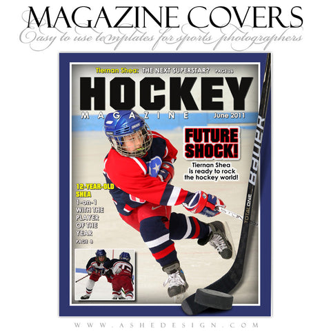 Magazine Cover Design - Hockey