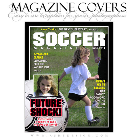 Magazine Cover Design - Soccer