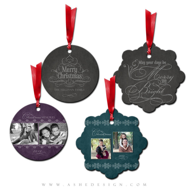 Metal Ornament Design Set - Chalkboard