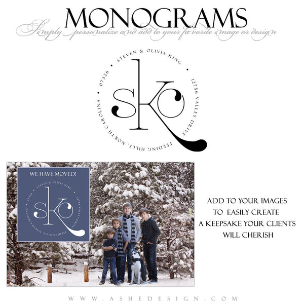 Ashe Design |  Monogram Template | Family Circle2