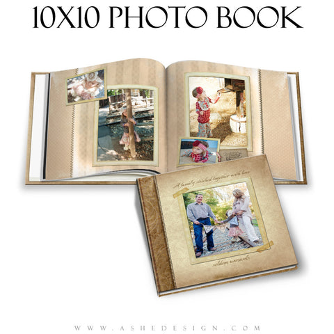 A Stitch In Time Photo Book Template for Photographers