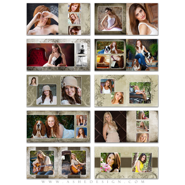 Senior Girl Photo Book Template (10x10) - Catherine Alise