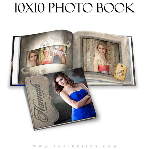 Photo Book Design Template (10x10) - Embossed