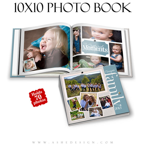 Photo Book Template (10x10) - Family Time