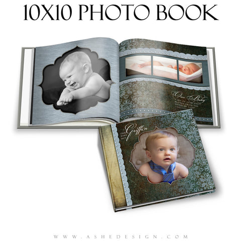 Ashe Design | Griffin 10x10 Photo Book Template cover
