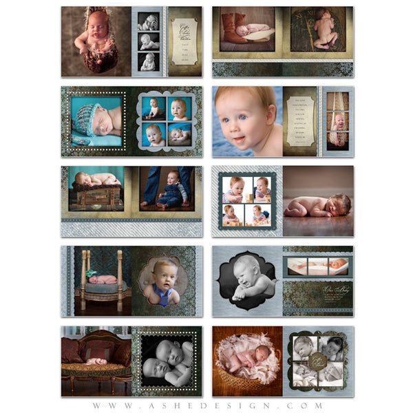 Ashe Design | Griffin 10x10 Photo Book Template pages