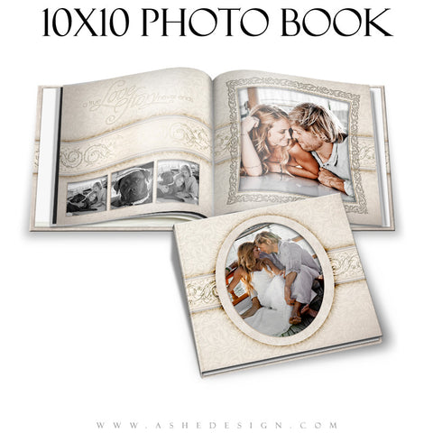 Wedding Photo Book Template (10x10) - I Do