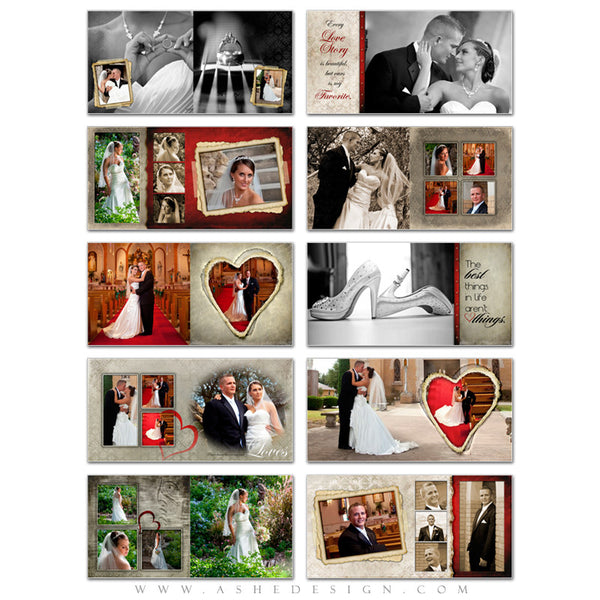 Photo Book Design Template (10x10) - Love Letters