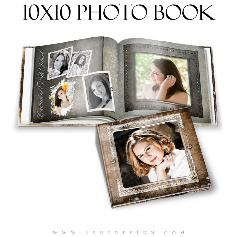 Ashe Design | Senior Girl 10x10 Photo Book | Macy Mae cover