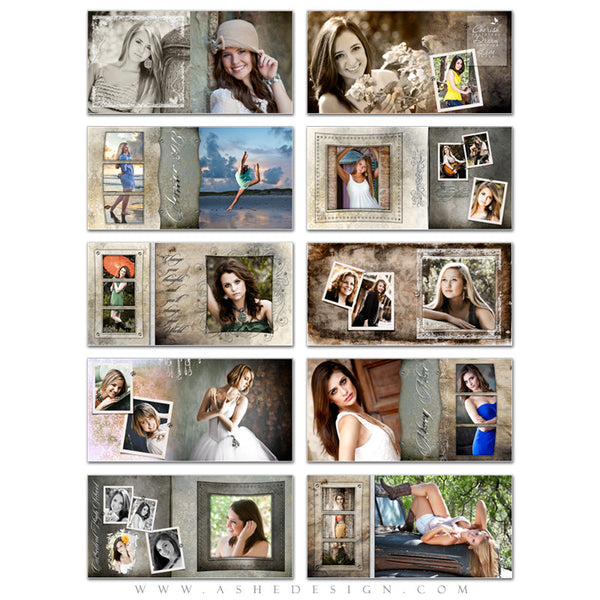Ashe Design | Senior Girl 10x10 Photo Book | Macy Mae pages