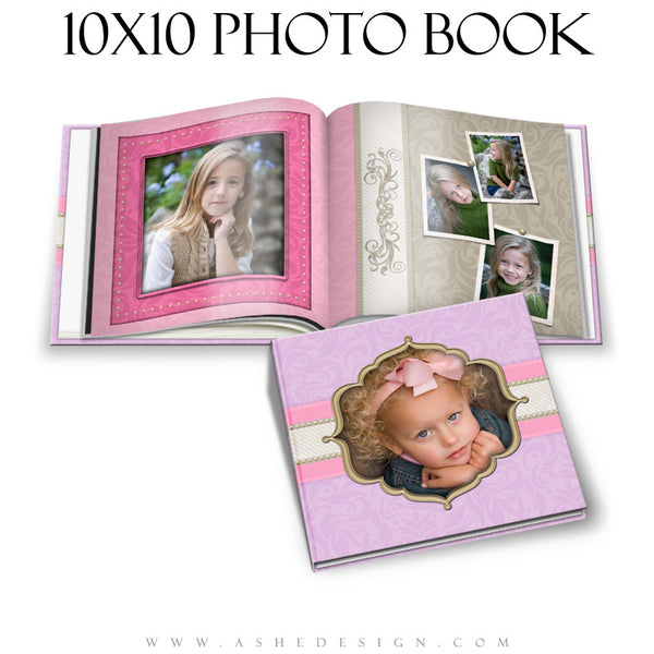 Photo Book Design Template (10x10) - Pretty Pastel