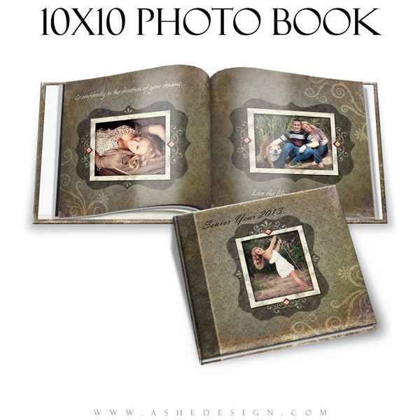 Ashe Design | Shabby Chic 10x10 Photo Book cover