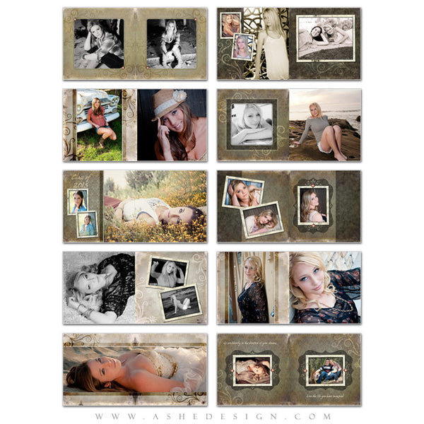 Ashe Design | Shabby Chic 10x10 Photo Book pages