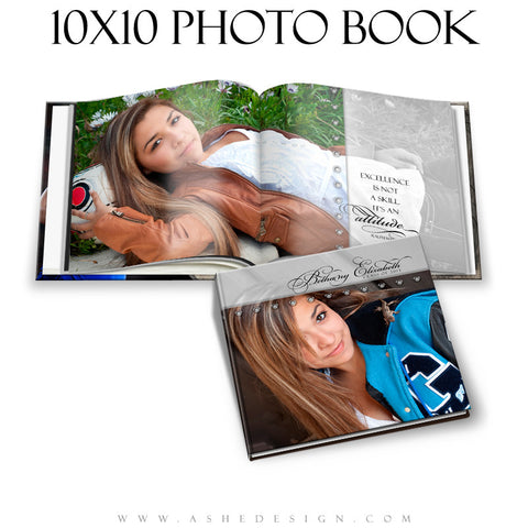 Ashe Design | Simply Stated 10x10 Photo Book Template cover
