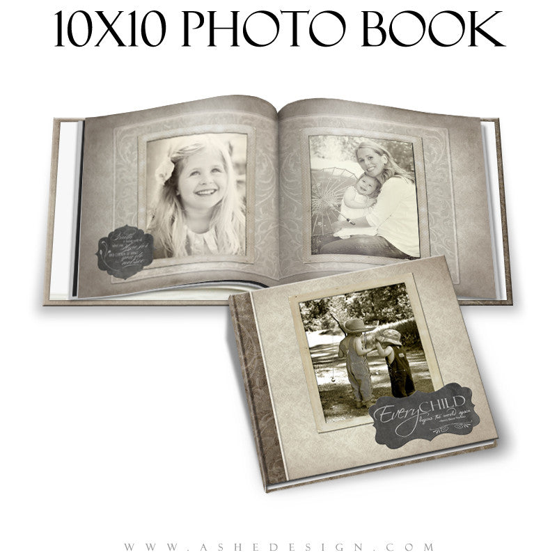 Photo Book Design Template (10x10) - Slateboard