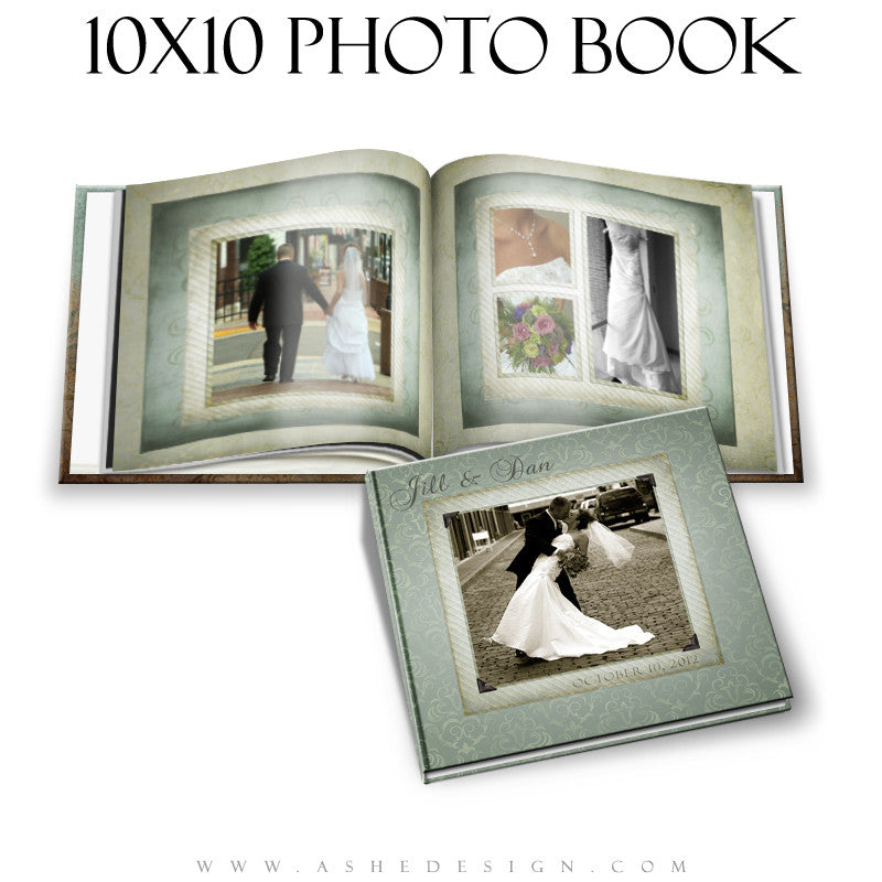 Ashe Design | Photo Book 10x10 Template | Something Old cover