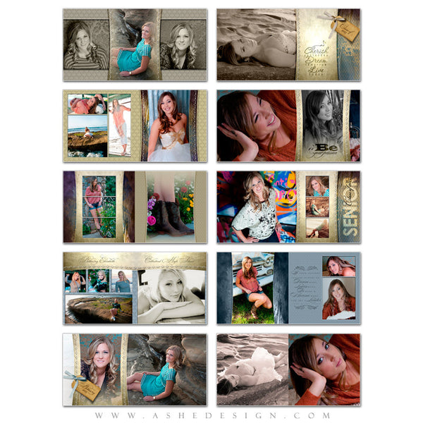 Ashe Design | Photo Book 10x10 | Spring Rain pages