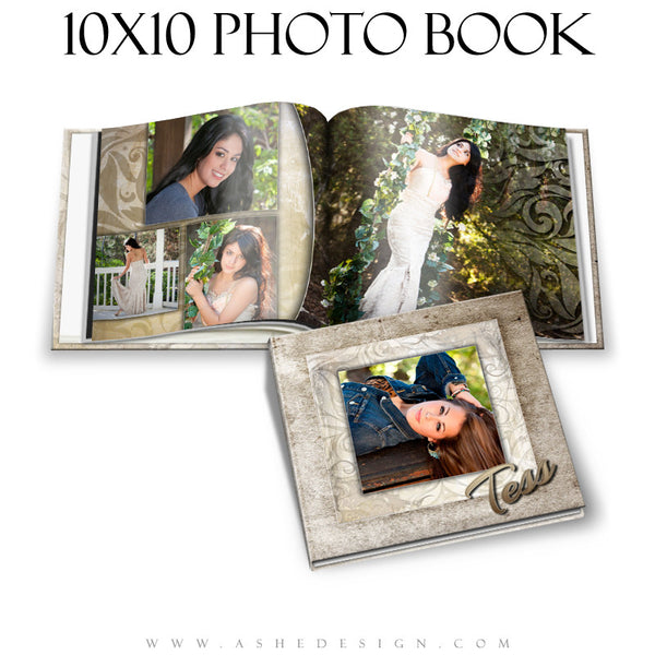 Ashe Design | Photo Book 10x10 Template | Tess cover