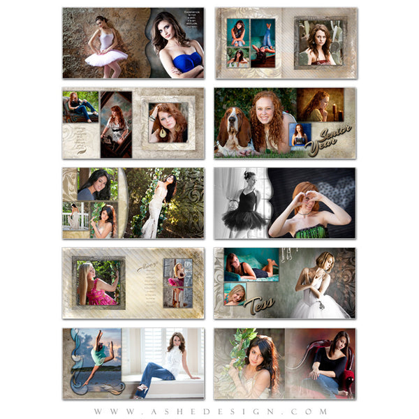 Ashe Design | Photo Book 10x10 Template | Tess pages
