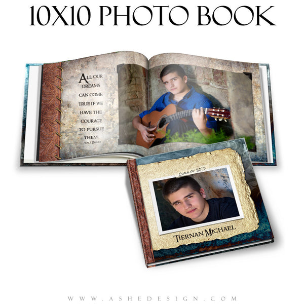 Ashe Design | Senior Boy Photo Book 10x10 | Tiernan Michael cover