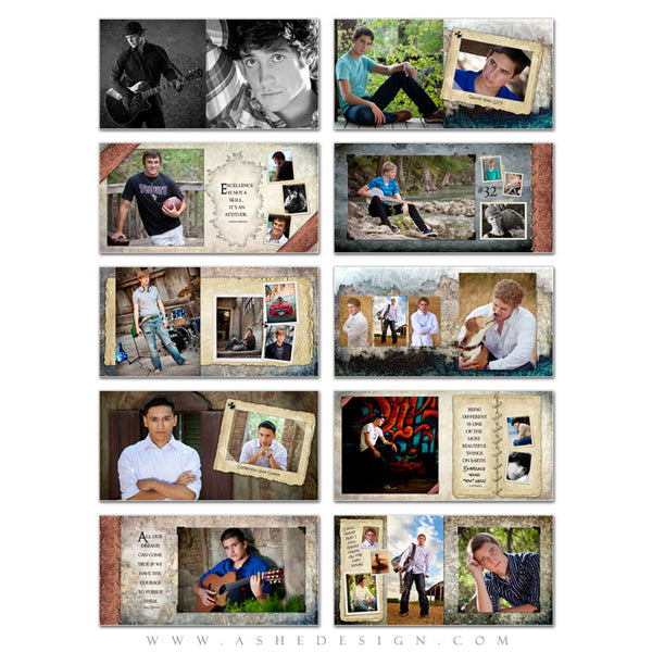 Ashe Design | Senior Boy Photo Book 10x10 | Tiernan Michael pages