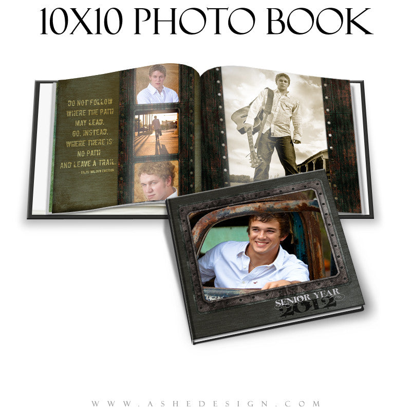 Photo Book Design Template (10x10) - Urban Blade