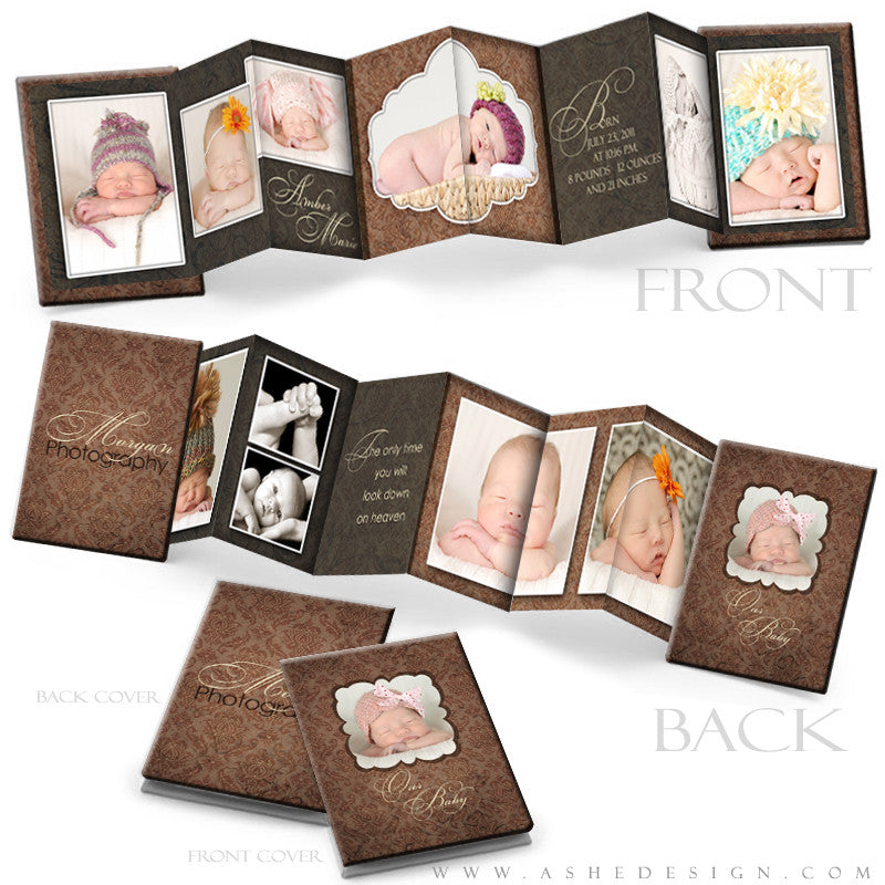 Wallet Accordion Mini Photo Book 2.5x3.5 Templates | Amber Marie