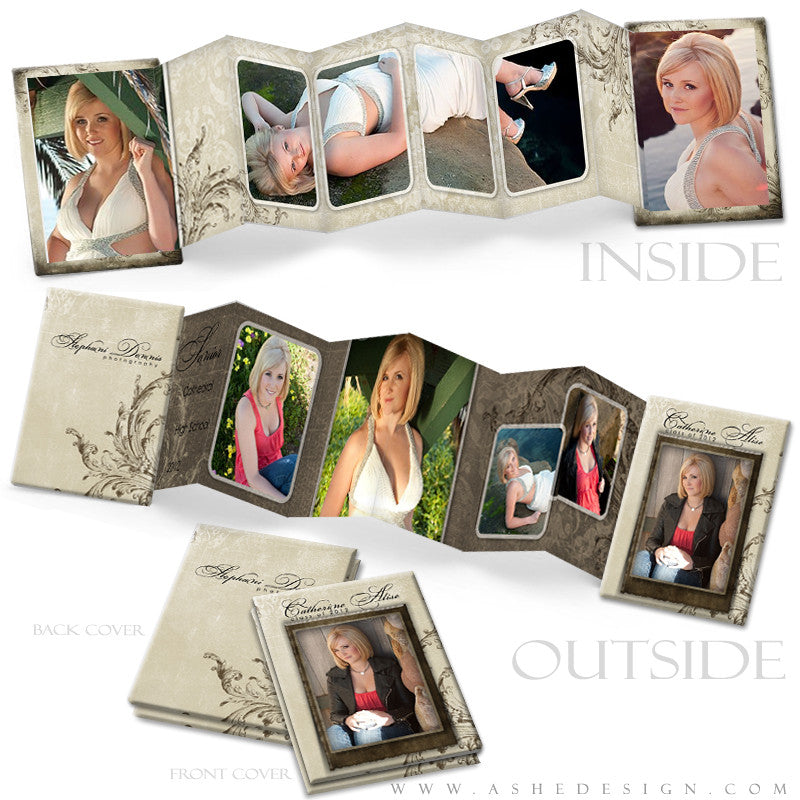 Photo Book Design Template (2.5x3.5 Wallet Accordion) - Catherine Alise