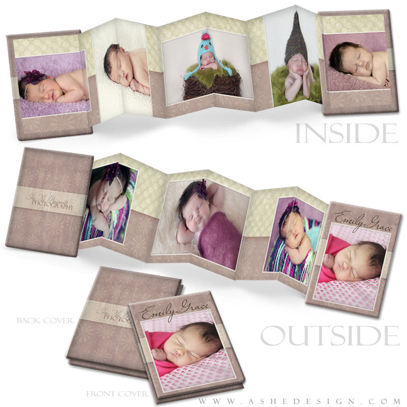 Photo Book Design Template (2.5x3.5 Wallet Accordion) - Emily Grace