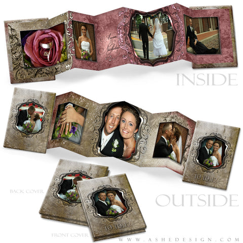 Photo Book Design Template (2.5x3.5 Wallet Accordion) - Engraved Elegance