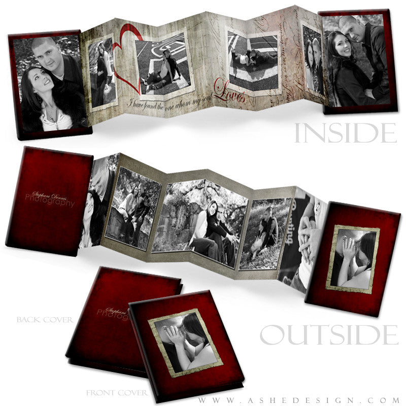 Photo Book Design Template (2.5x3.5 Wallet Accordion) - Love Letters
