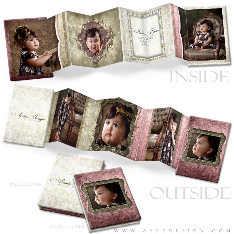 Photo Book Design Template (2.5x3.5 Wallet Accordion) - Madison Grace