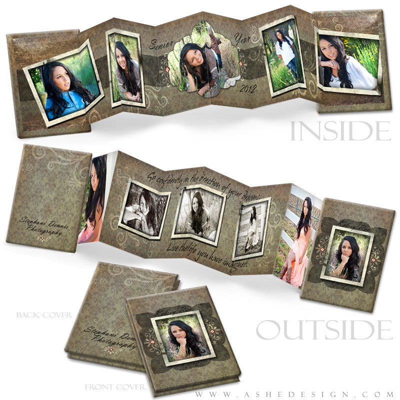 Photo Book Design Template (2.5x3.5 Wallet Accordion) - Shabby Chic