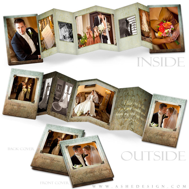 Photo Book Template (2.5x3.5 Wallet Accordion) - Something Old