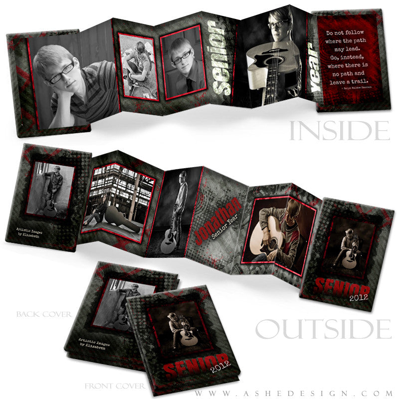Photo Book Design Template (2.5x3.5 Wallet Accordion) - Special Elite