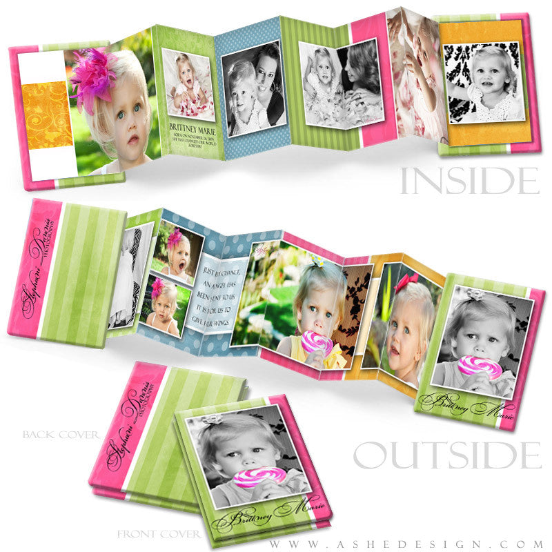 Photo Book Template (2.5x3.5 Wallet Accordion) - Spring Fling