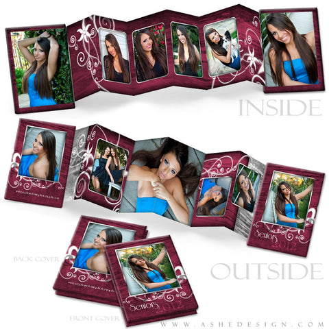Photo Book Design Template (2.5x3.5 Wallet Accordion) - Steel Magnolia