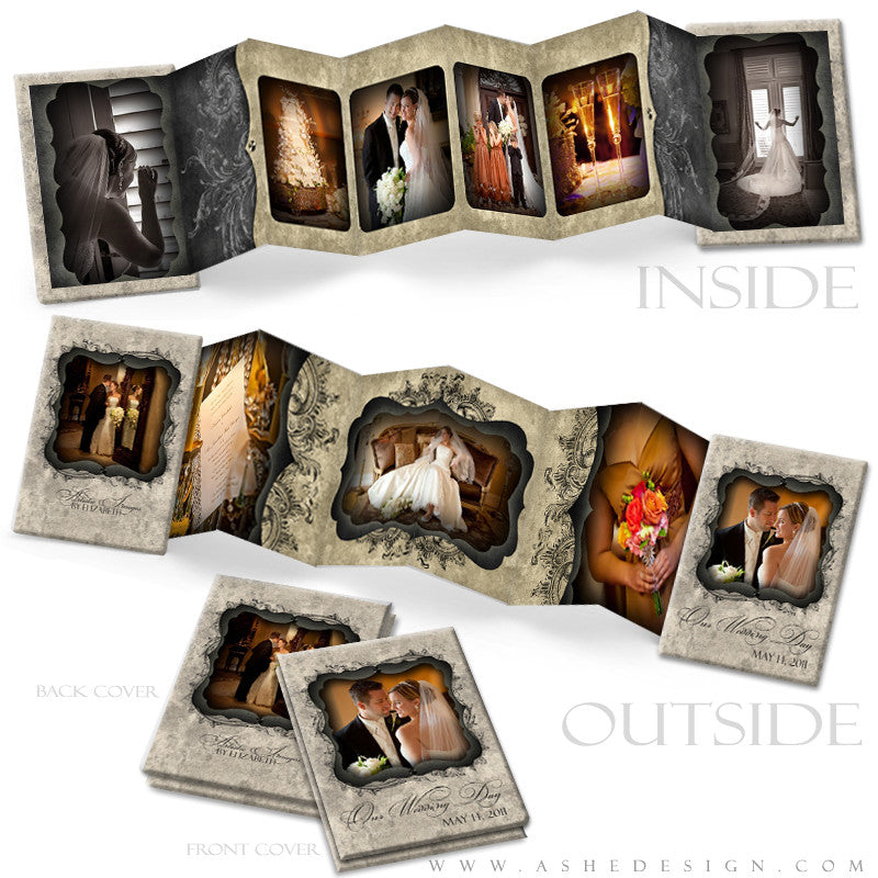 Photo Book Design Template (2.5x3.5 Wallet Accordion) - Timeless Beauty