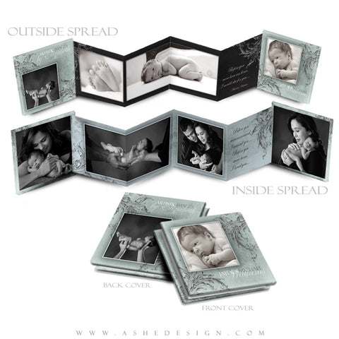 Photo Book Design Template (3x3 Accordion Mini) - A Mother's Love