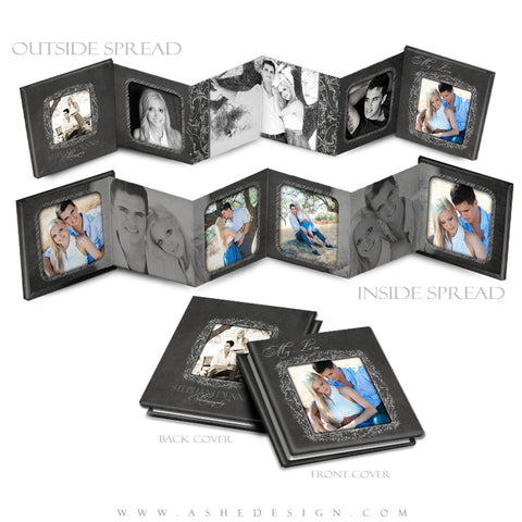 Photo Book Design Template (3x3 Accordion Mini) - Chalkboard
