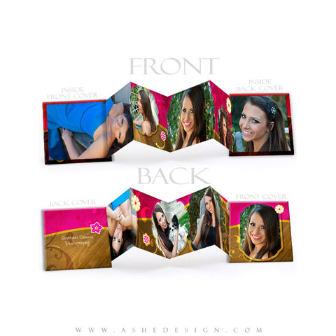 Photo Book Design Template (3x3 Accordion Mini) - Chocolate Raspberry Swirl
