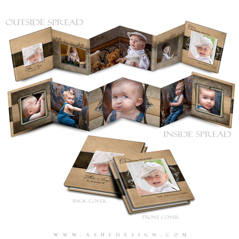 Photo Book Design Template (3x3 Accordion Mini) - Chocolate Silk