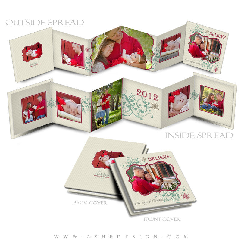 Photo Book Design Template (3x3 Accordion Mini) - Christmas Magic