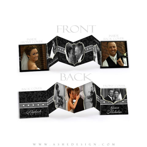 Photo Book Design Template (3x3 Accordion Mini) - Classic Black & White 2011