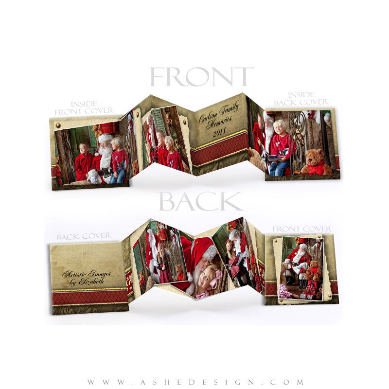 Photo Book Design Template (3x3 Accordion Mini) - Ginger Bread