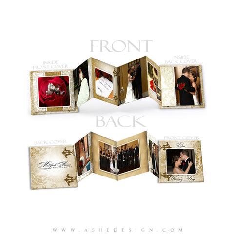 Photo Book Design Template (3x3 Accordion Mini) - Gold Leaf