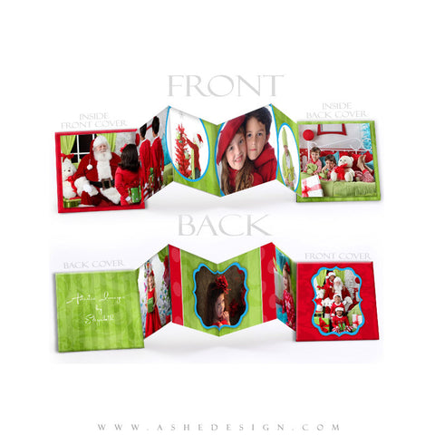 Photo Book Design Template (3x3 Accordion Mini) - Holly Jolly Christmas